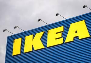 Fachada da loja da Ikea em Estocolmo. Foto: Jonathan Nackstrand/AFP