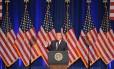 O presidente dos EUA, Donald Trump, anuncia sua nova Estratégia de Segurança Nacional em Washington