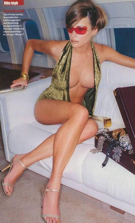 Melania Trump, nascida na Eslovênia e depois naturalizada americana, em ensaio sensual Foto: Divulgação