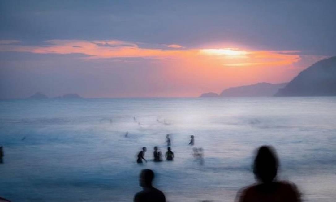O pôr do sol na orla do Rio Foto: @eurivaldo_bezerra / Instagram