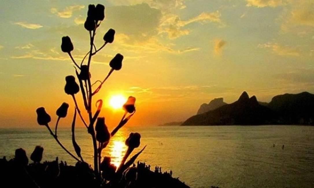 O pôr do sol no Arpoador Foto: @camorim10 / Instagram
