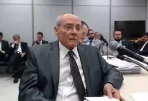 Glaucos da Costamarques em depoimento ao juiz Sergio Moro sobre apartamento que alugou para o ex-presidente Lula Foto: Reprodução/Justiça Federal do Paraná