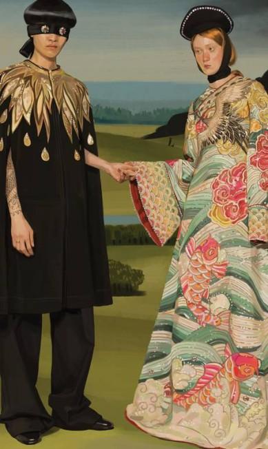Com elementos misteriosos e oníricos, campanha é cheia de referências a grandes mestres da pintura Divulgação