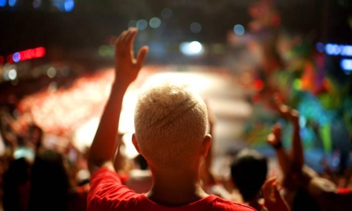 Torcida do Boi Garantido durante sua segunda noite de apresentação Foto: Emiliano Capozoli / Divulgação