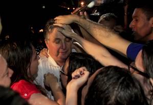 Ex-governador Anthony Garotinho deixa prisão em Bangu Foto: Uanderson Fernandes / Agência O Globo