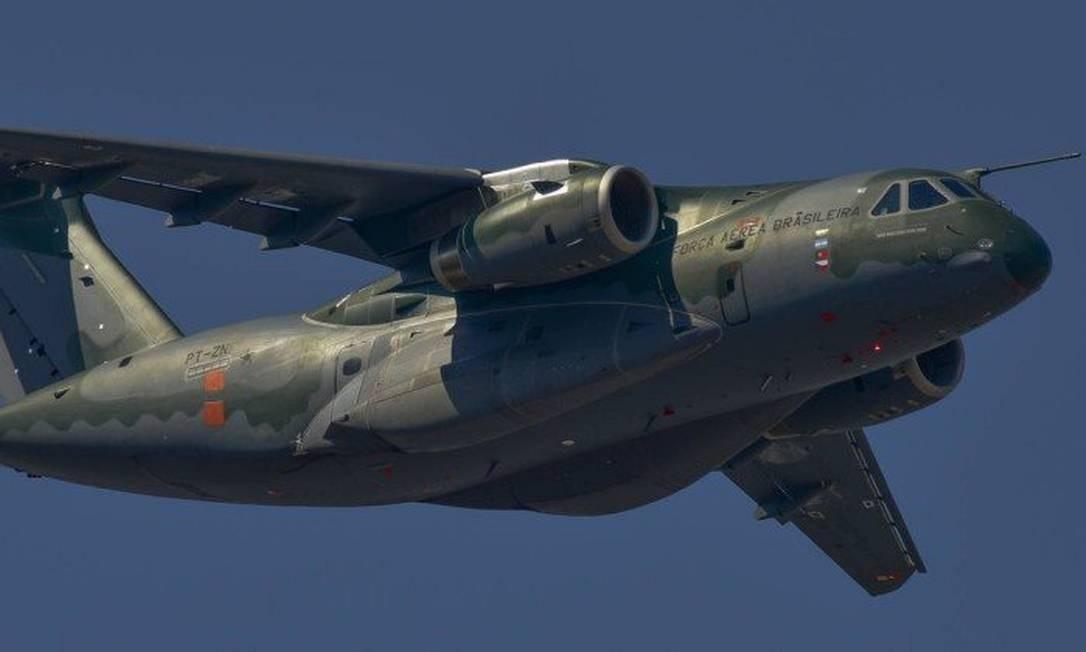 KC-390, avião de transporte militar da fabricante brasileira em fase final de certificação Foto: Lucas Lacaz Ruiz