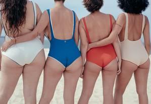 """A marca Aro fez um manifesto pelos """"corpos reais"""" Foto: Cassius Meireles"""