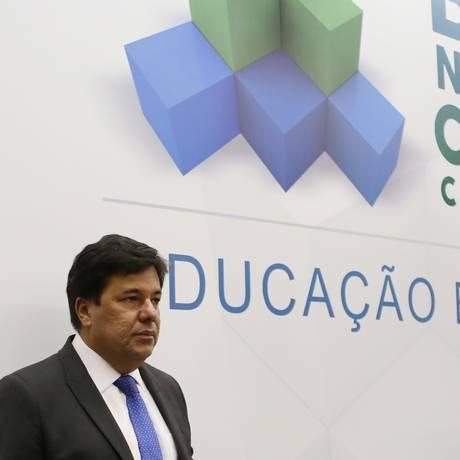 Ministro da Educação, Mendonça Filho, homologou a BNCC nesta quarta-feira Foto: Michel Filho / Agência O Globo