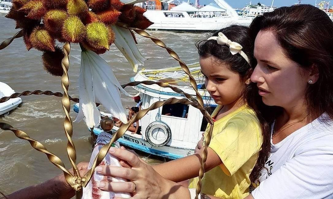 Naza é o nome carinhoso pelo qual os fiéis chamam Nossa Senhora de Nazaré Foto: Bruno Calixto / Agência O Globo