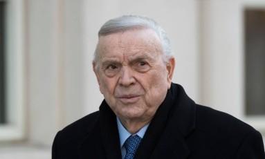 José Maria Marin durante início de julgamento em Nova York Foto: DON EMMERT / AFP