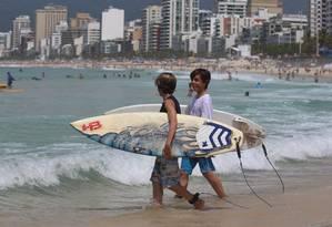Verão na Praia de Ipanema Foto: Fabiano Rocha / Agência O Globo