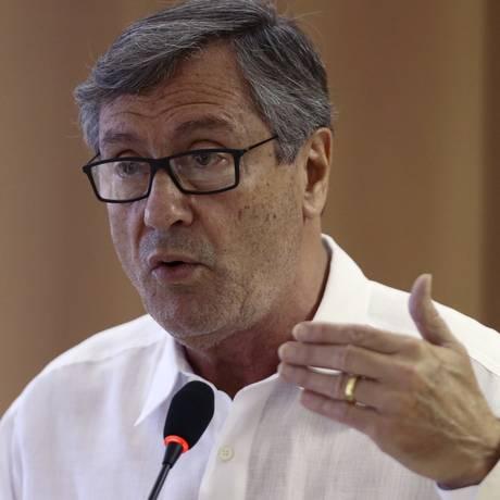 O ministro da Justiça, Torquato Jardim, defendeu o indulto de Natal 2017 em coletiva neste sábado Foto: Jorge William / O Globo