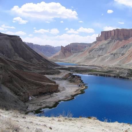 Cânion do Parque Band-e-Amir: lagos e montanhas de beleza estonteante no Afeganistão Foto: Divulgação
