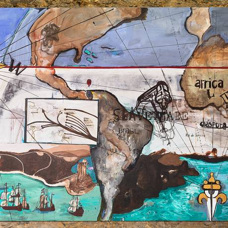 SC - Expo Ex Africa CCBB: Arjan Martins Crédito Cortesia do artista e da Galeria A Gentil Carioca Foto: Pedro Agilson