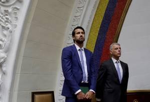 Craig Kowalik (à esquerda), encarregado de negócios canadense em Caracas, foi expulso pelo governo de Maduro. Como revanche, o Canadá reagiu fazendo o mesmo com o encarregado de negócios venezuelano no país e com o embaixador da Venezuela Foto: Marco Bello / REUTERS/02-08-2017
