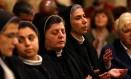 Cristãos celebram missa de Natal em Belém, na Cisjordânia Foto: MUSSA QAWASMA / REUTERS