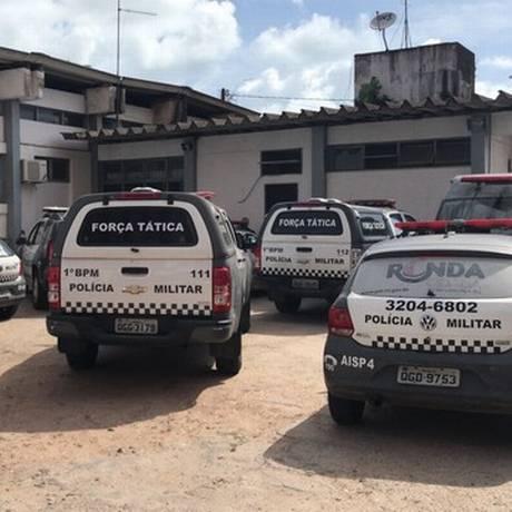 Policiais do 1º Batalhão, na Zona Leste de Natal, aquartelados Foto: Divulgação 19/12/2017