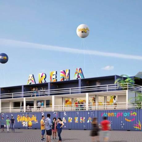 A Arena Carnaval, onde prefeitura planeja que dois blocos se apresentem por dia: local tem capacidade para 100 mil pessoas e já abrigou Cidade do Rock Foto: Divulgação