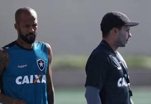 Bruno Silva e Jair Ventura saíram do Botafogo Foto: Satiro Sodré/SSPress/Botafogo
