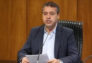 O ministro do Trabalho, Ronaldo Nogueira, durante entrevista sobre taxa de desemprego no Brasil Foto: Ailton de Freitas / Ailton de Freitas/Agência O Globo