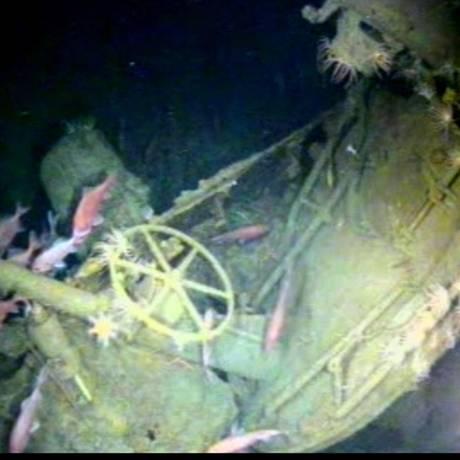 Os destroços do HMAS AE1 foram encontrados a 300 metros de profundidade Foto: Fugro Survey / Departamento de Defesa da Austrália