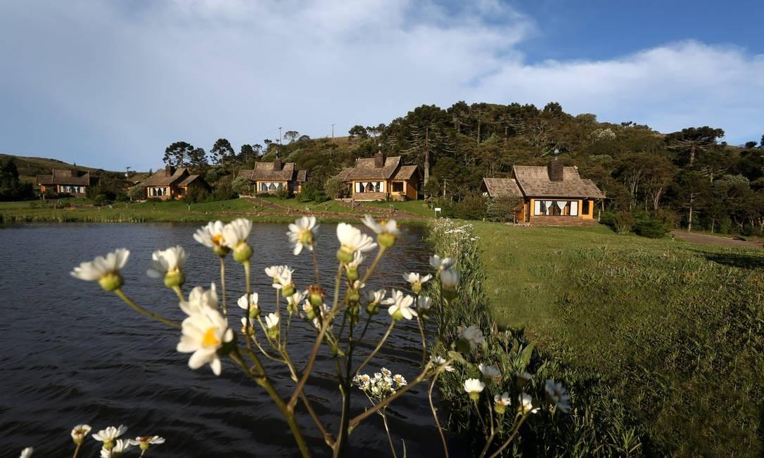 Eco Resort Rio do Rastro, em Bom Jardim (SC): dois lagos, piscina coberta, academia e sauna Foto: Custodio Coimbra / Agência O Globo
