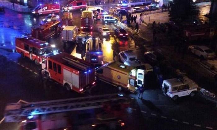 Explosão em supermercado de São Petersburgo deixa feridos