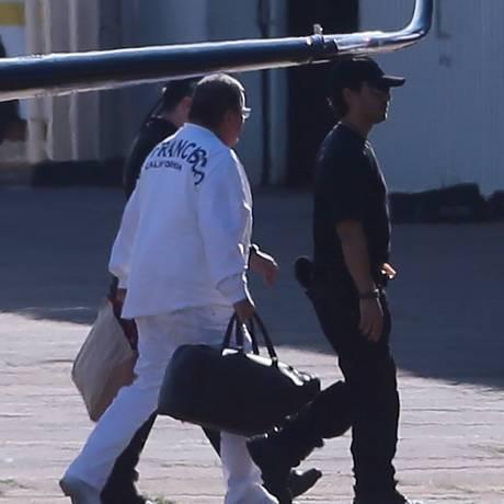 O ex-ministro Geddel Vieira Lima chega em Brasília após ter sido preso em Salvador Foto: Jorge William/Agência O Globo/09-09-2017