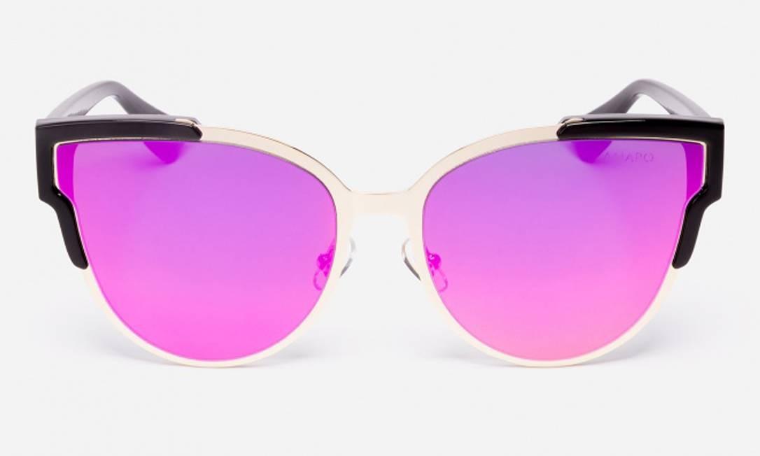 Óculos de sol D-Frame Mirror, na Amaro. R$ 129,90 (amaro.com) Divulgação