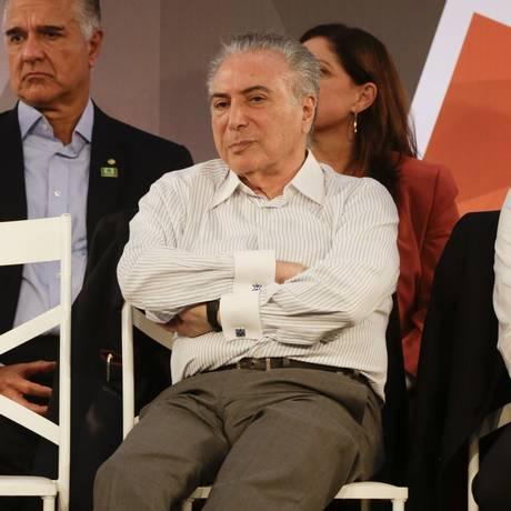 O presidente Michel Temer participa de cerimônia em São João da Barra, no Rio de Janeiro Foto: Gabriel de Paiva / Gabriel de Paiva/Agência O Globo/27-12-2017