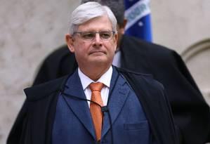 O ex-procurador-geral da República Rodrigo Janot durante sessão plenária do Supremo Tribunal Federal Foto: Jorge William/Agência O Globo/14-09-2017