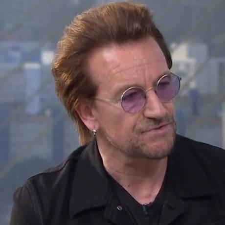 O cantor Bono Vox Foto: Reprodução