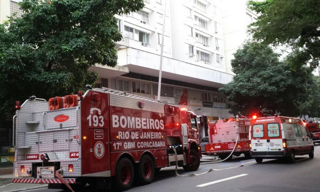 Carros do Corpo de Bombeiros do quartel de Copacabana Foto: Rafael Nascimento / Agência O Globo