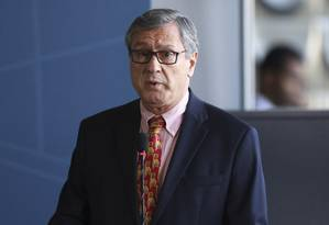O ministro da Justiça, Torquato Jardim, durante posse do novo diretor da Polícia Federal Foto: Ailton de Freitas/Agência O Globo/20-11-2017