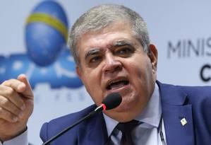 O ministro da Secretaria de Governo, Carlos Marun, durante evento no Ministério das Cidades Foto: Ailton de Freitas / Agência O Globo