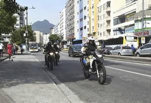 Homens do GGM na Rua Conde de Bonfim, na altura da Saens Peña Foto: Divulgação/Prefeitura do Rio de Janeiro