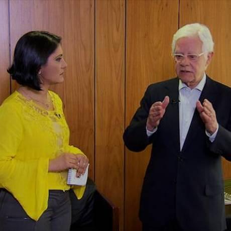 O secretário-geral da Presidência, Moreira Franco, na primeira entrevista de 2018 Foto: Reprodução / TV Brasil