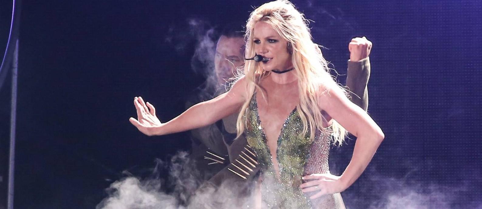 A cantora Britney Spears durante o show 'Piece of me' Foto: Mirrormedia