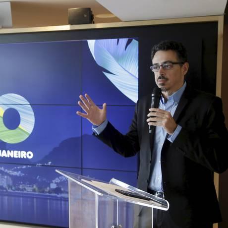 O ministro Sérgio Sá Leitão e os números do réveillon: aumento do número de turistas Foto: Gabriel Paiva / Agência O Globo