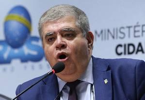 O ministro da Secretaria de Governo, Carlos Marun, durante evento no Ministério das Cidades Foto: Ailton de Freitas/Agência O Globo/29-12-2017 / Agência O Globo