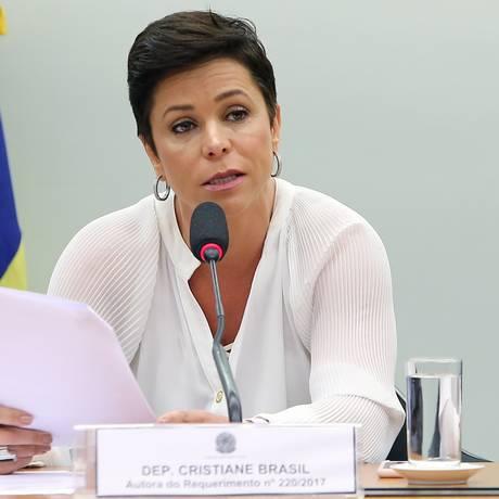 A deputada Cristiane Brasil participa de audiência na Comissão de Relações Exteriores da Câmara Foto: Gilmar Felix/Câmara dos Deputados/30-08-2017