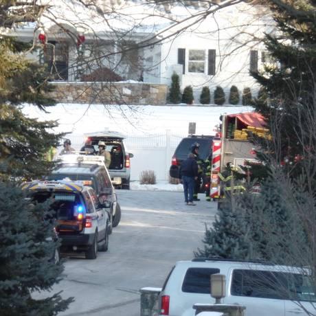 Casa de Bill e Hillary Clinton recebe serviços de emergência após incêndio Foto: Reprodução de Twitter / @MarcusSolis7