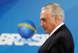 O presidente Michel Temer participa de cerimônia no Palácio do Planalto Foto: Adriano Machado/Reuters/21-12-2017 / REUTERS