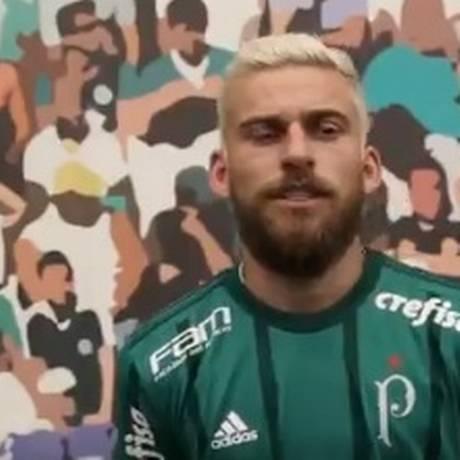 Lucas Lima em entrevista ao site do Palmeiras Foto: Reprodução