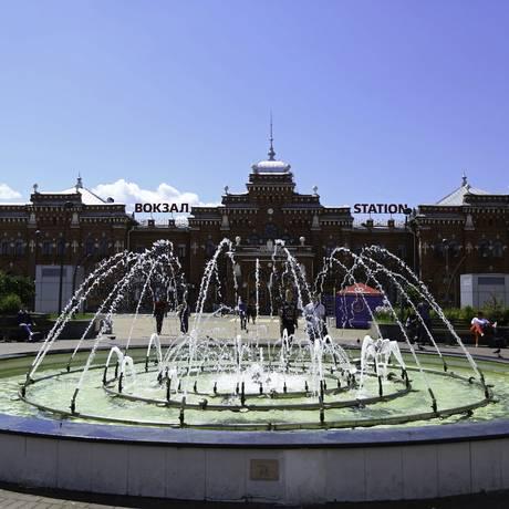 Beleza histórica. Construída no início do século XX, a estação ferroviária de Kazan é um dos pontos turísticos da cidade, que receberá Foto: DiaEsportivo - Heuler Andrey / Agência O Globo