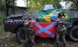 Brasileiro Rafael Marques Lusvarghi (à direita) lutou ao lado de separatistas na Ucrânia