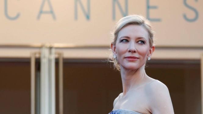 A atriz Cate Blanchett no lançamento de 'Carol' no Festival de Cannes em 2015 Foto: Regis Duvignau / REUTERS
