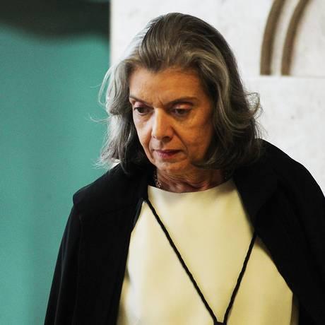 A ministra Cármen Lúcia, presidente do Supremo Tribunal Federal Foto: Ailton de Freitas/Agência O Globo/13-12-2017