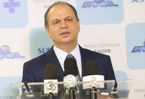O ministro da Saúde, Ricardo Barros, durante entrevista Foto: Erasmo Salomão/Ministério da Saúde