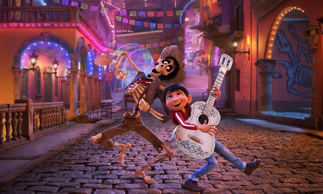 'Vida - A vida é uma festa'. A animação traz o clima da celebração mexicana em torno do Dia dos Mortos, e conta a história de um garoto que faz uma viagem ao mundo dos que já se foram. Em cartaz no circuito. Foto: Divulgação
